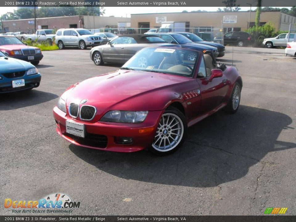 2001 Bmw Z3 3 0i Roadster Siena Red Metallic Beige Photo