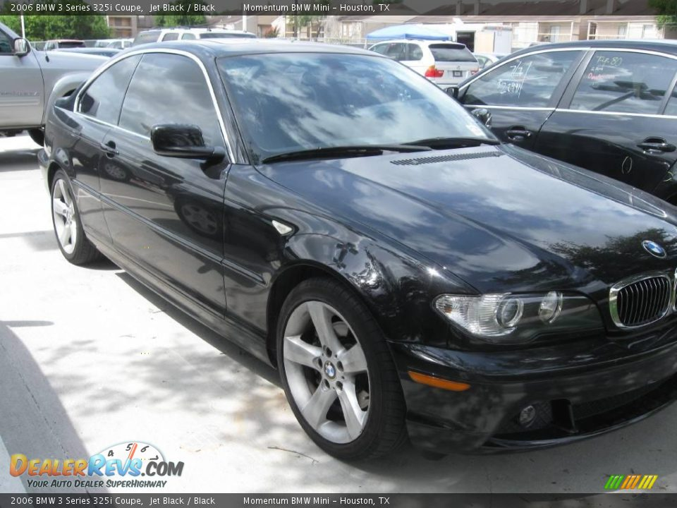 2006 bmw 3 series 325i coupe jet black black photo 2. Black Bedroom Furniture Sets. Home Design Ideas