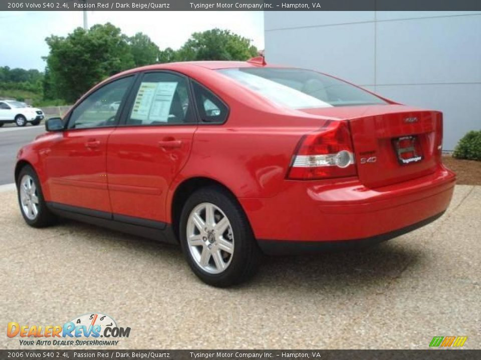 2006 volvo s40 2 4i passion red dark beige quartz photo 4 dealerrevs
