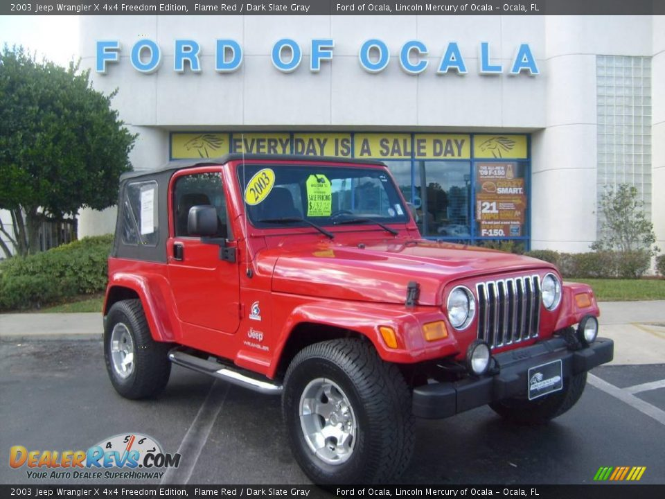 2003 jeep wrangler x 4x4 freedom edition flame red dark slate gray photo 1. Black Bedroom Furniture Sets. Home Design Ideas