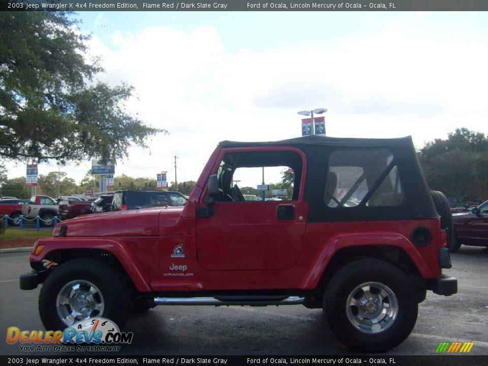 Jeep Wrangler Freedom Edition >> 2003 Jeep Wrangler X 4x4 Freedom Edition Flame Red / Dark ...