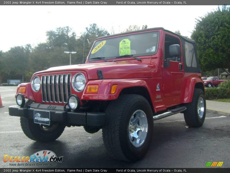 2003 jeep wrangler x 4x4 freedom edition flame red dark slate gray photo 7. Black Bedroom Furniture Sets. Home Design Ideas