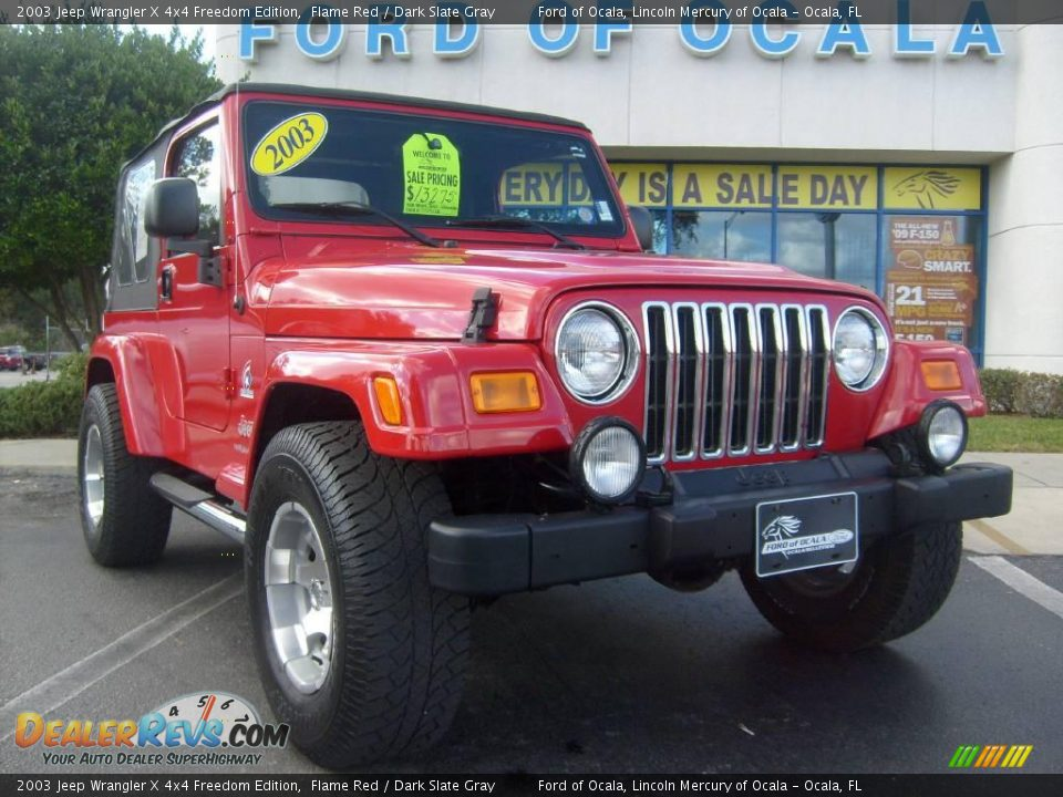 2003 jeep wrangler x 4x4 freedom edition flame red dark slate gray photo 9. Black Bedroom Furniture Sets. Home Design Ideas