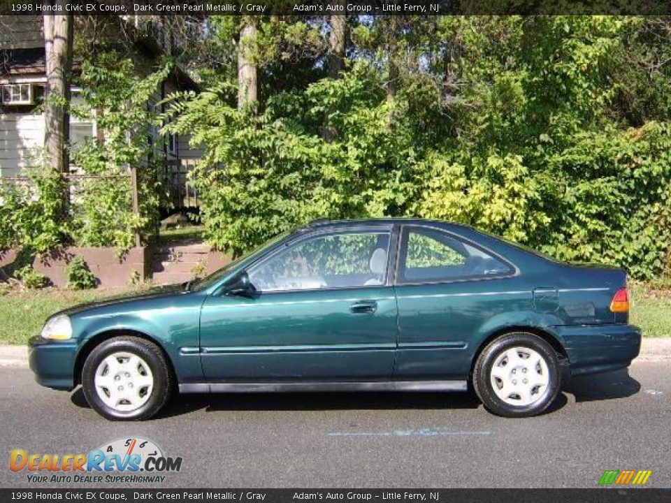1998 honda civic ex coupe dark green pearl metallic gray. Black Bedroom Furniture Sets. Home Design Ideas
