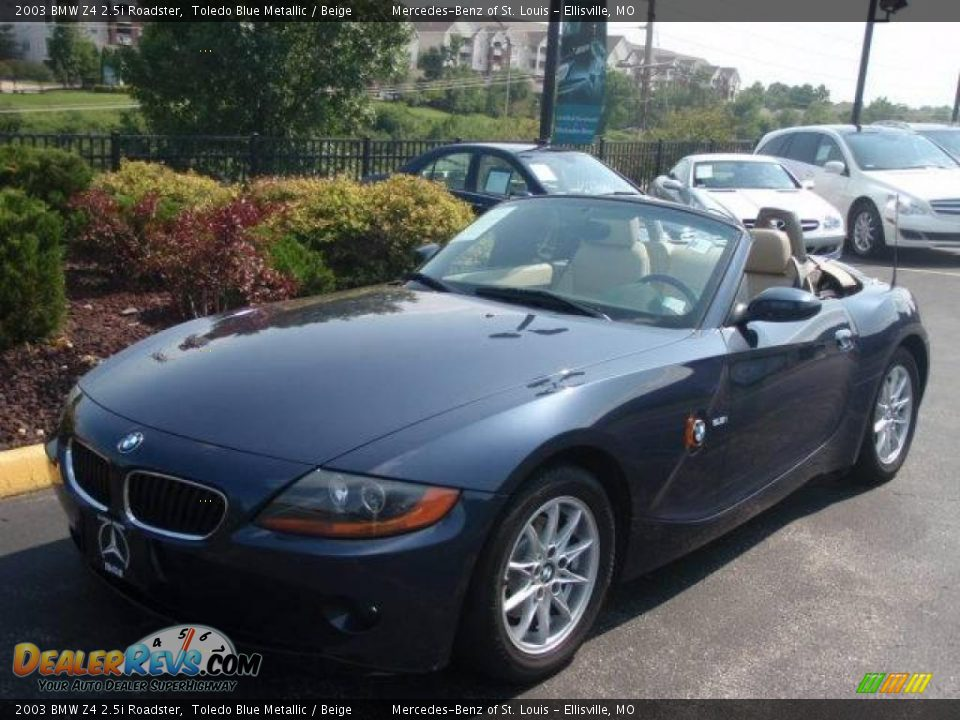 2003 bmw z4 roadster toledo blue metallic beige photo 1. Black Bedroom Furniture Sets. Home Design Ideas