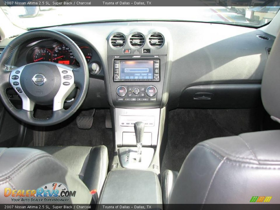 2007 Nissan Altima 2 5 Sl Super Black Charcoal Photo 12