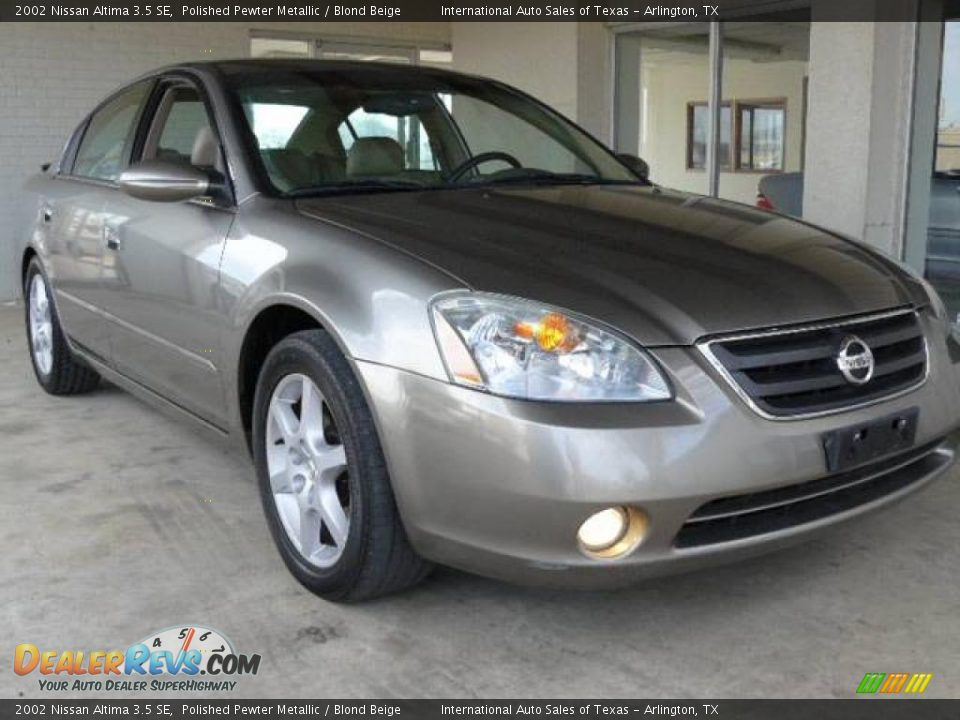 2002 nissan altima 3 5 se polished pewter metallic blond. Black Bedroom Furniture Sets. Home Design Ideas