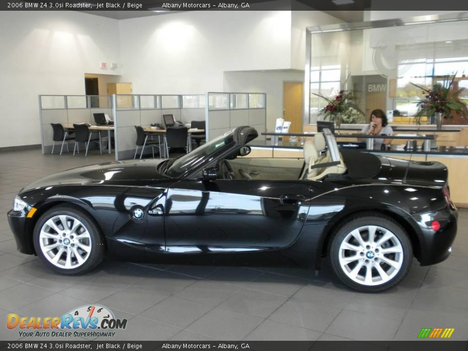 2006 Bmw Z4 3 0si Roadster Jet Black Beige Photo 1