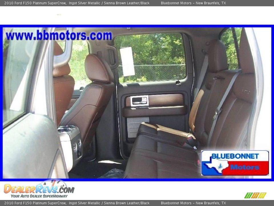 2010 ford f150 platinum supercrew ingot silver metallic sienna brown leather black photo 8