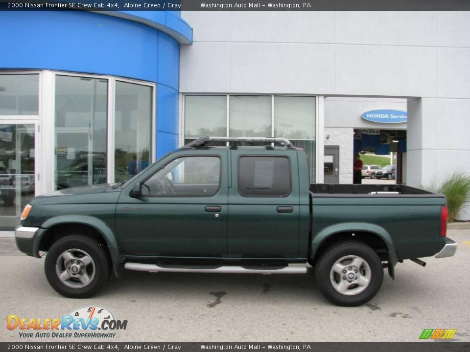 2000 nissan frontier se crew cab 4x4 alpine green gray photo 3. Black Bedroom Furniture Sets. Home Design Ideas