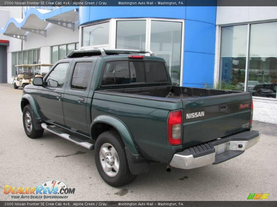 2000 nissan frontier se crew cab 4x4 alpine green gray photo 4. Black Bedroom Furniture Sets. Home Design Ideas