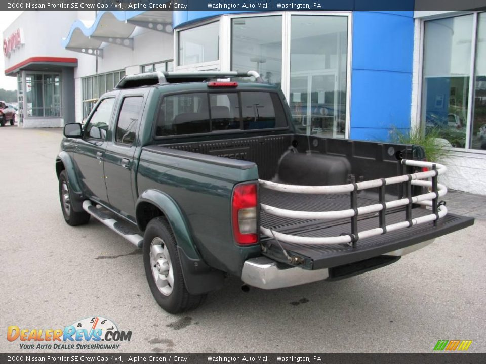2000 nissan frontier se crew cab 4x4 alpine green gray photo 7. Black Bedroom Furniture Sets. Home Design Ideas