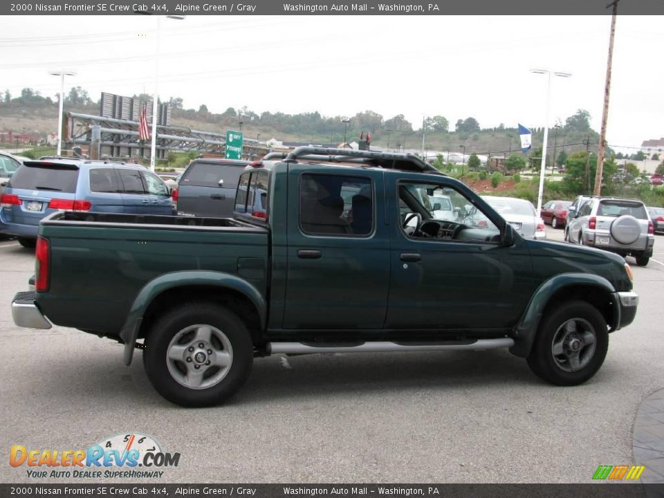 2000 nissan frontier se crew cab 4x4 alpine green gray photo 10. Black Bedroom Furniture Sets. Home Design Ideas