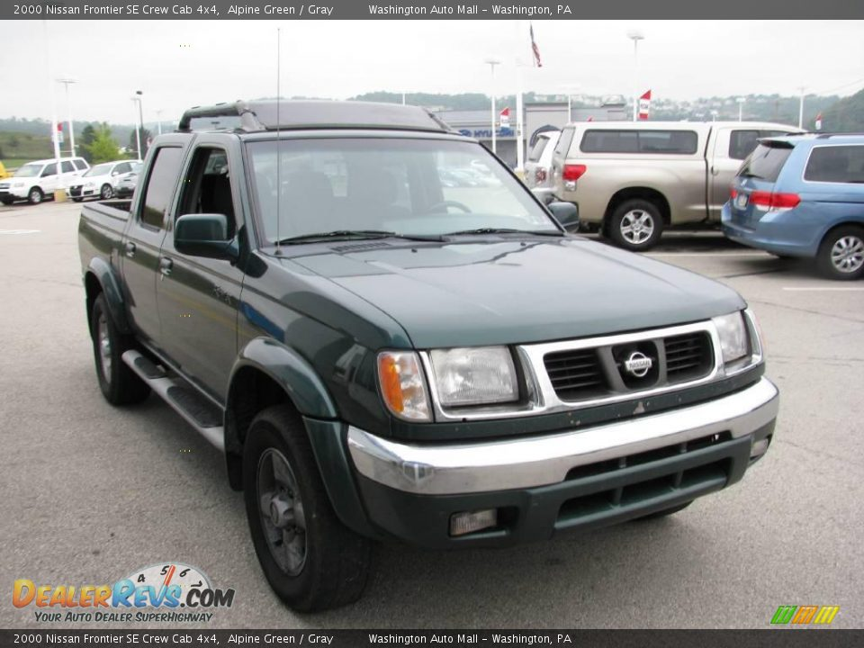 2000 nissan frontier se crew cab 4x4 alpine green gray photo 12. Black Bedroom Furniture Sets. Home Design Ideas