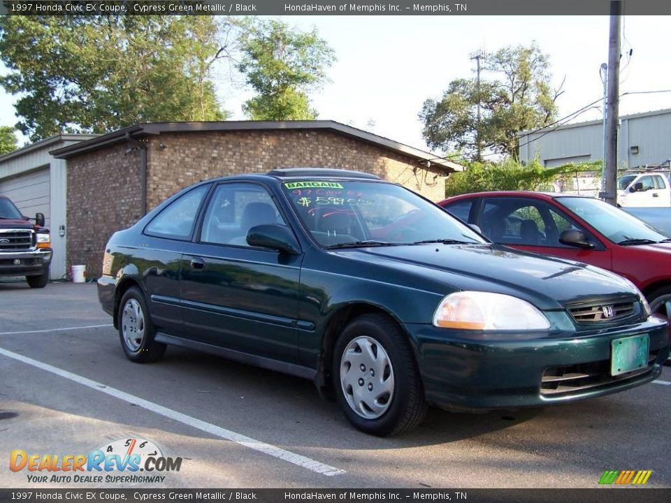 1997 honda civic ex coupe cypress green metallic black photo 3. Black Bedroom Furniture Sets. Home Design Ideas