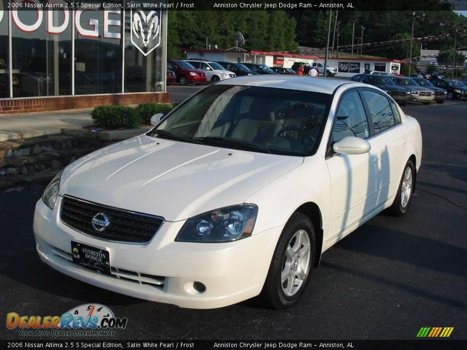 2006 nissan altima 2 5 s special edition satin white pearl frost photo 2. Black Bedroom Furniture Sets. Home Design Ideas