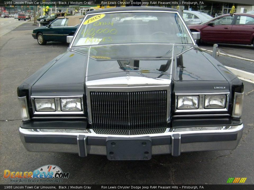 1988 Lincoln Town Car Limousine Black Medium Gray Photo 6 Dealerrevs Com
