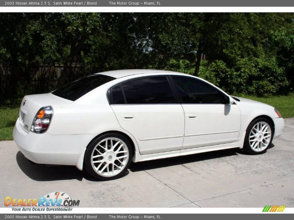 2003 Nissan Altima 2 5 S Satin White Pearl Blond Photo