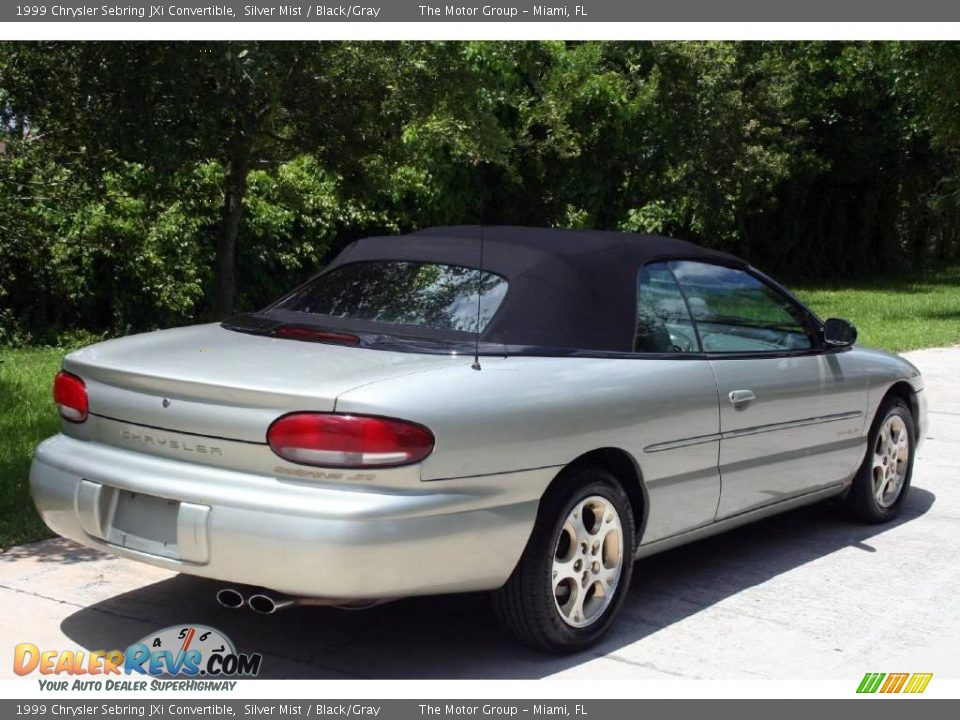 1999 chrysler sebring jxi convertible silver mist black. Black Bedroom Furniture Sets. Home Design Ideas