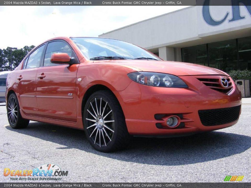 2004 Mazda Mazda3 S Sedan Lava Orange Mica Black Photo