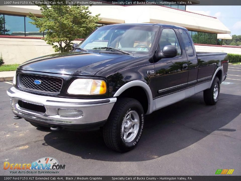 1997 ford f150 xlt extended cab 4x4 black medium graphite photo 4. Black Bedroom Furniture Sets. Home Design Ideas
