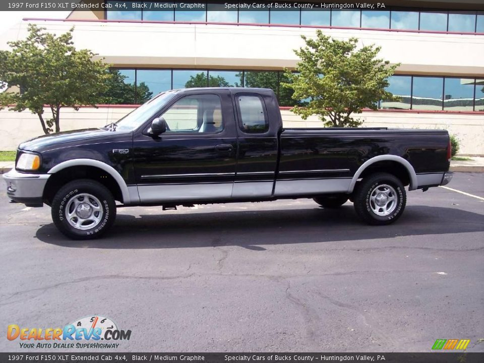 1997 ford f150 xlt extended cab 4x4 black medium graphite photo 5. Black Bedroom Furniture Sets. Home Design Ideas