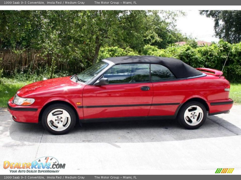 1999 saab 9 3 convertible imola red medium gray photo 2. Black Bedroom Furniture Sets. Home Design Ideas
