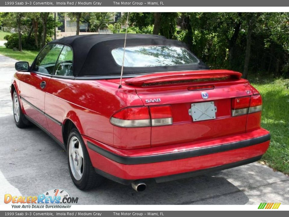 1999 saab 9 3 convertible imola red medium gray photo 6. Black Bedroom Furniture Sets. Home Design Ideas