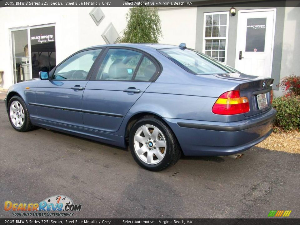 2005 Bmw 3 Series 325i Sedan Steel Blue Metallic Grey