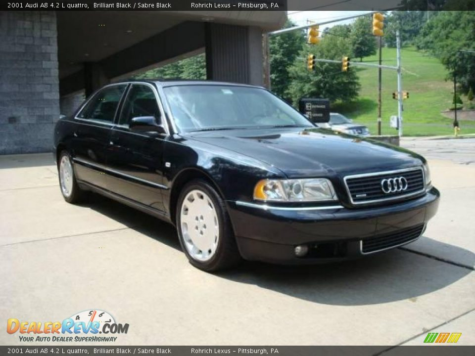 2001 audi a8 4 2 l quattro brilliant black sabre black photo 12. Black Bedroom Furniture Sets. Home Design Ideas