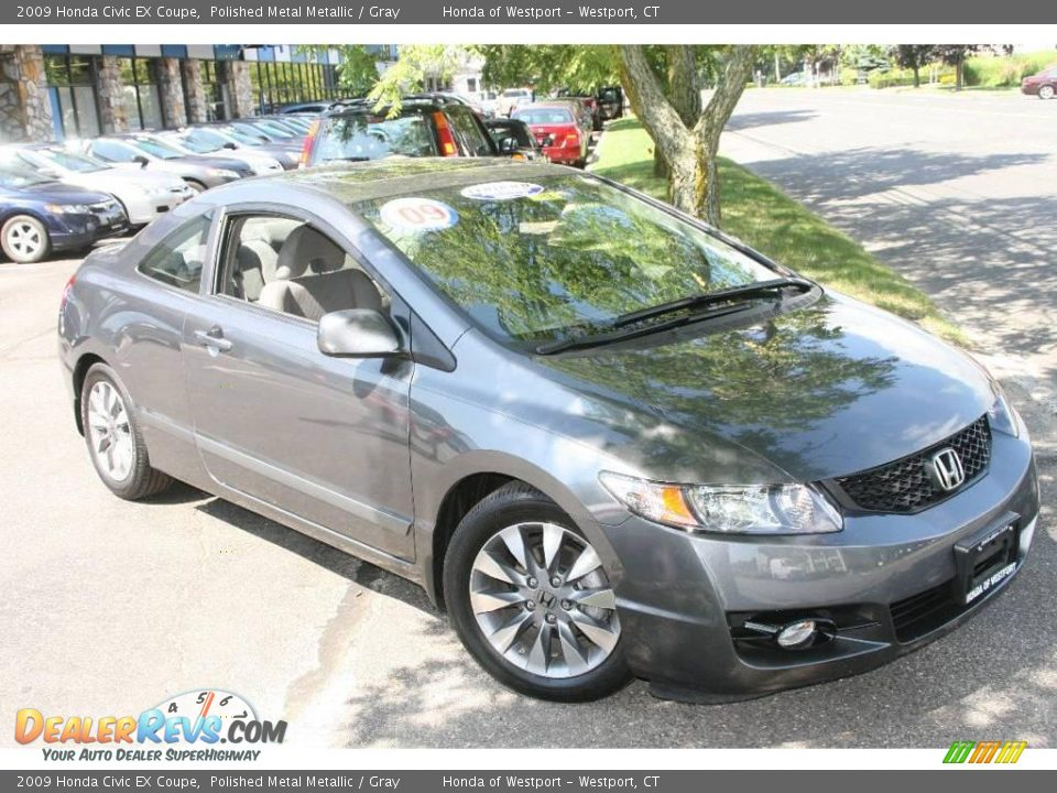 2009 Honda Civic EX Coupe Polished Metal Metallic / Gray Photo #1 ...