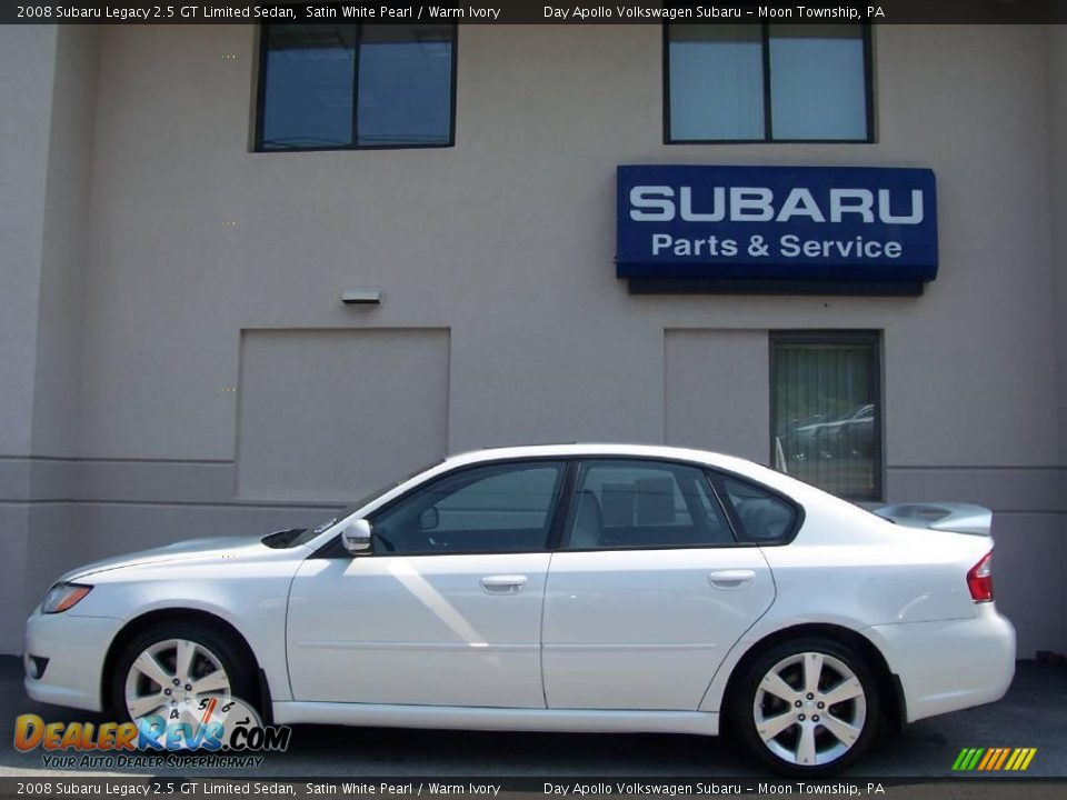 2008 subaru legacy 2 5 gt limited sedan satin white pearl warm ivory photo 6. Black Bedroom Furniture Sets. Home Design Ideas