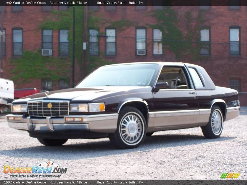 1992 cadillac deville coupe rootbeer metallic beige. Cars Review. Best American Auto & Cars Review