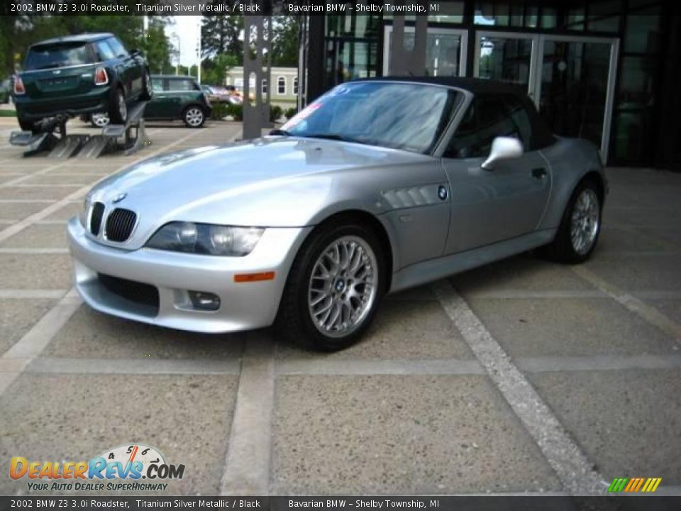 2002 Bmw Z3 3 0i Roadster Titanium Silver Metallic Black