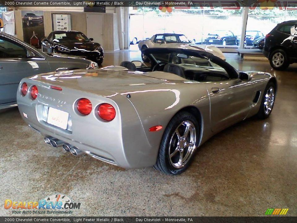 2000 chevrolet corvette convertible light pewter metallic black photo 4 dealerrevs