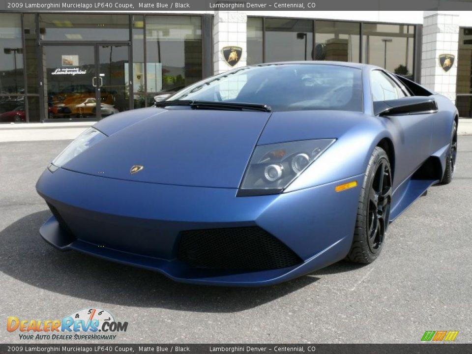 2009 Lamborghini Murcielago Lp640 Coupe Matte Blue Black