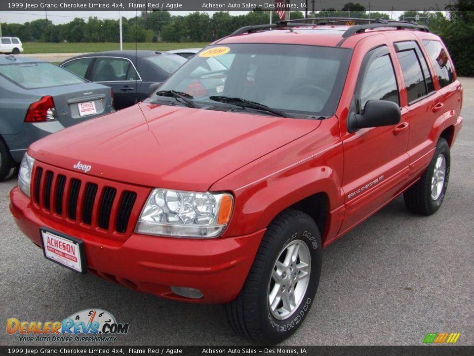 1999 jeep grand cherokee limited 4x4 flame red agate photo 1. Cars Review. Best American Auto & Cars Review