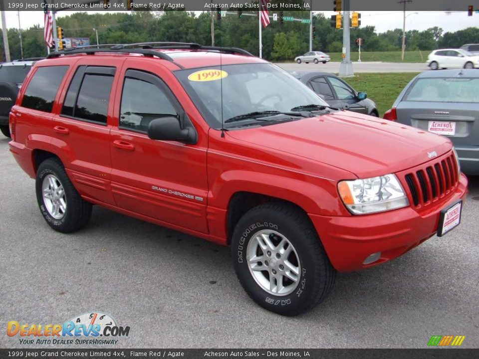 1999 Jeep Grand Cherokee Limited 4x4 Flame Red Agate