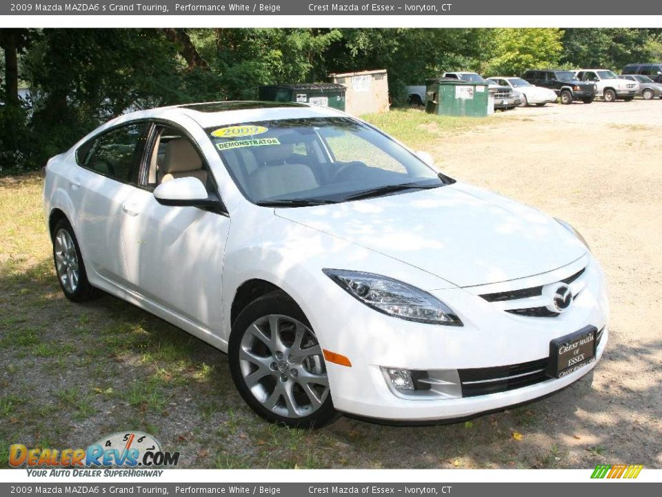 2009 mazda mazda6 s grand touring performance white. Black Bedroom Furniture Sets. Home Design Ideas