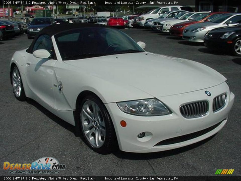 2005 Bmw Z4 3 0i Roadster Alpine White Dream Red Black