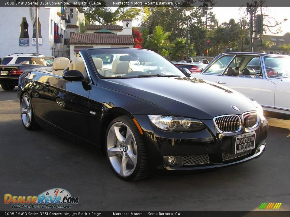 2008 Bmw 3 Series 335i Convertible Jet Black Beige Photo
