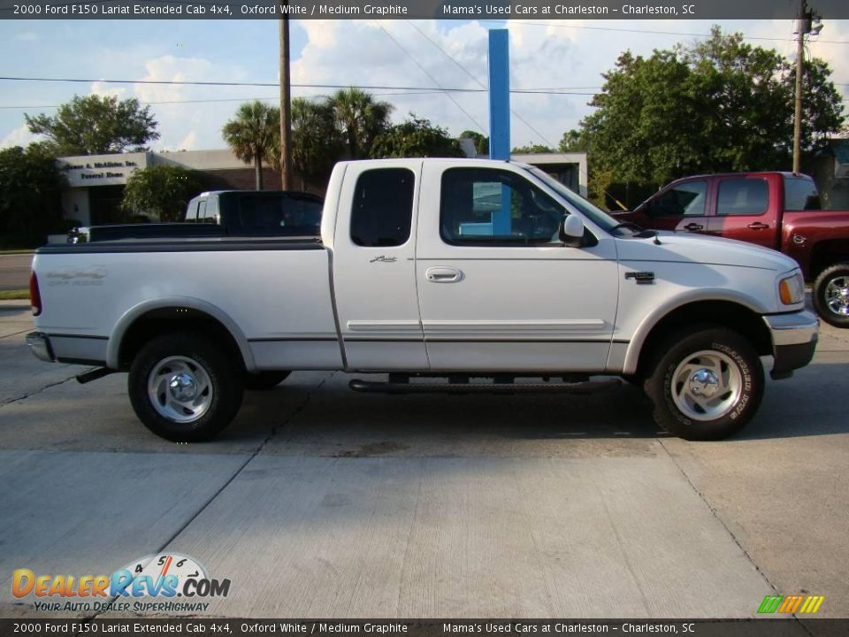 2000 ford f150 lariat extended cab 4x4 oxford white medium graphite photo 5. Black Bedroom Furniture Sets. Home Design Ideas