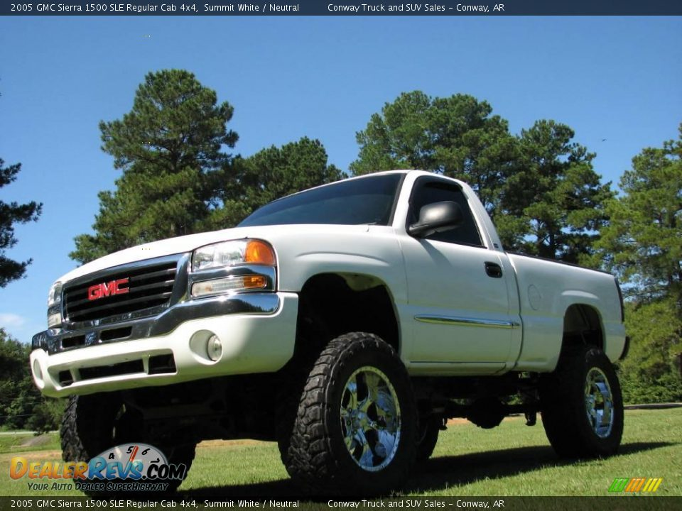 2005 gmc sierra 1500 sle regular cab 4x4 summit white neutral photo 2. Black Bedroom Furniture Sets. Home Design Ideas