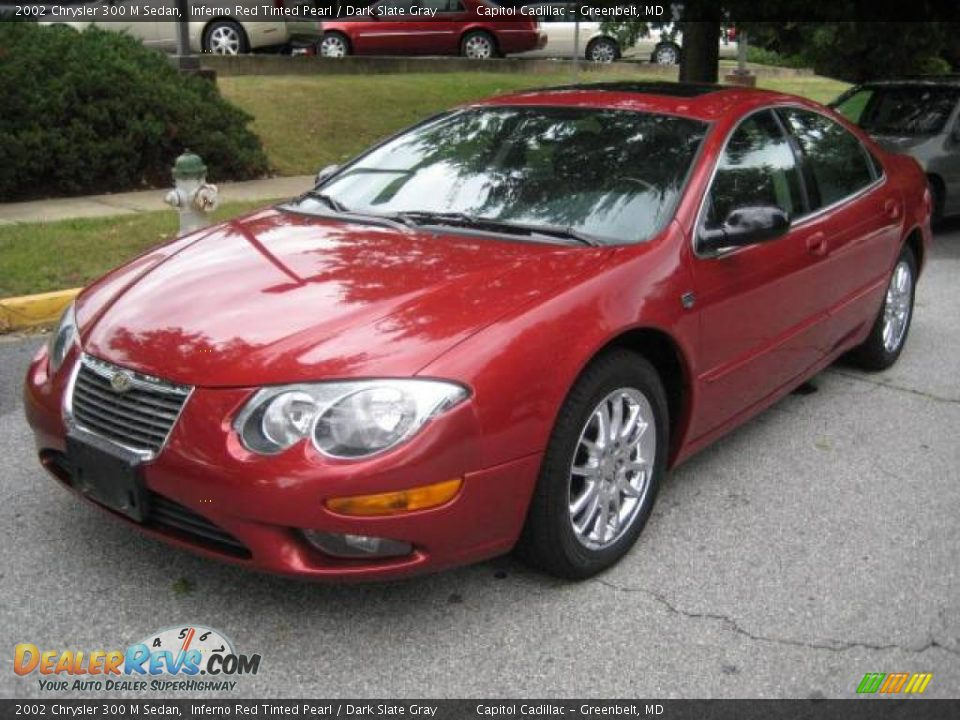 2002 Chrysler 300 M Sedan Inferno Red Tinted Pearl Dark