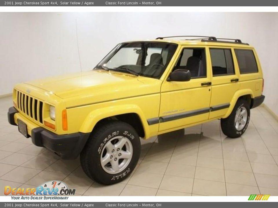 2001 Jeep Cherokee Sport 4x4 Solar Yellow Agate Photo 3