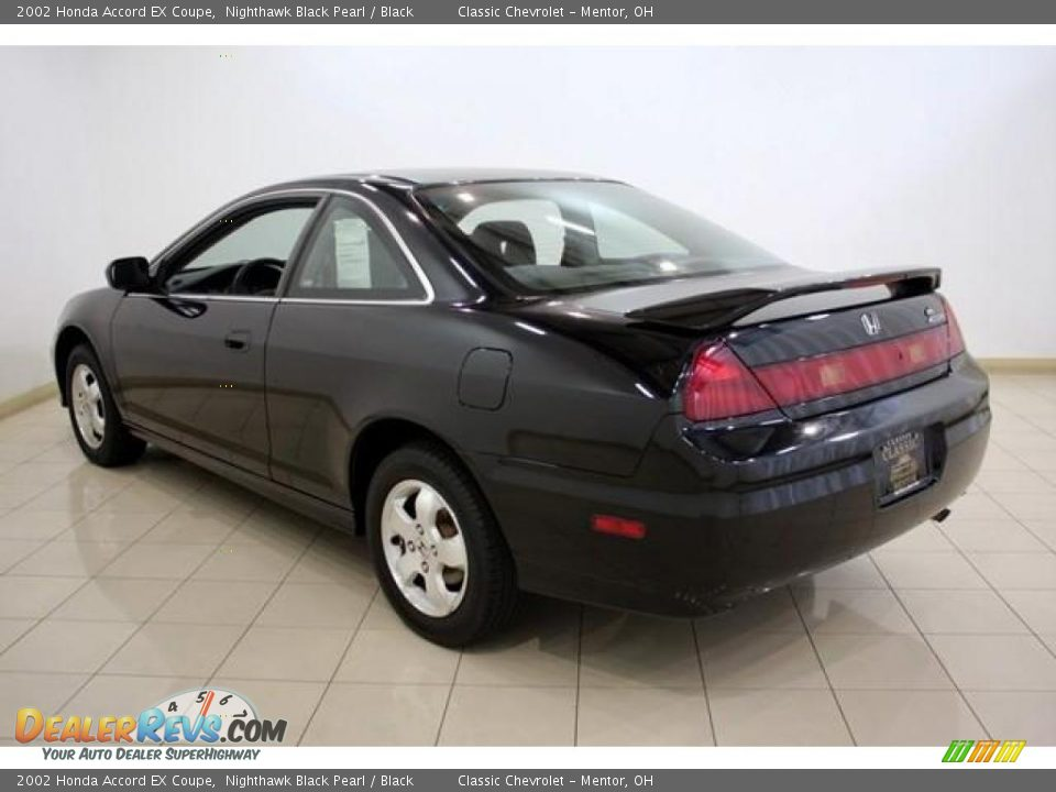 2002 Honda Accord EX Coupe Nighthawk Black Pearl / Black ...