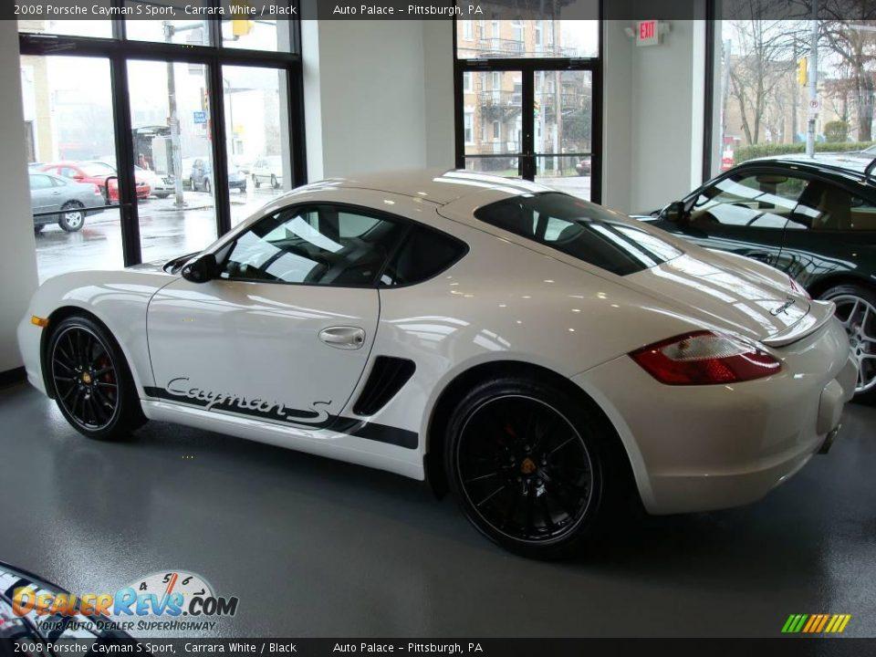 2008 Porsche Cayman S Sport Carrara White Black Photo 2