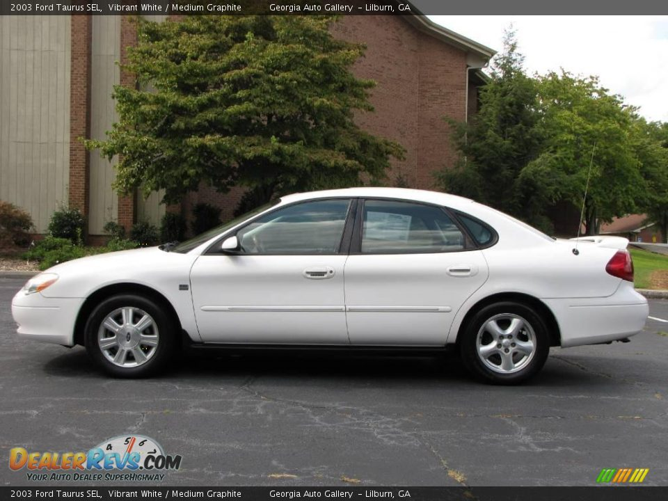 2003 ford taurus sel vibrant white medium graphite photo. Black Bedroom Furniture Sets. Home Design Ideas