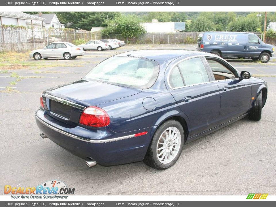 2006 Jaguar S Type 3 0 Indigo Blue Metallic Champagne