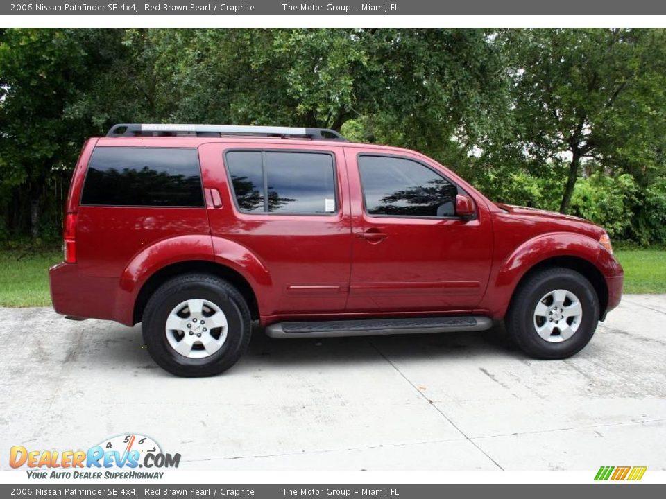 2006 Nissan Pathfinder Se 4x4 Red Brawn Pearl Graphite